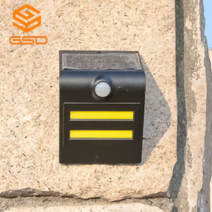 1.5W LED Solar Wall Light With Black Housing (Black Light: Green)