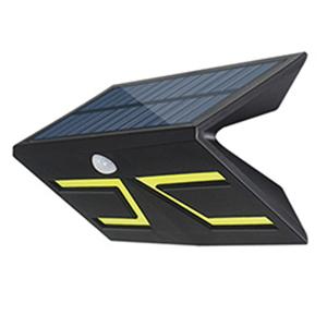 5W Smart LED Solar & lnductive Wandleuchte Schwarz