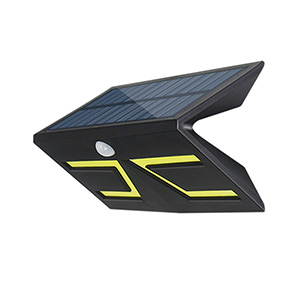 5W Smart LED Solar&lnductive Wall Light Black