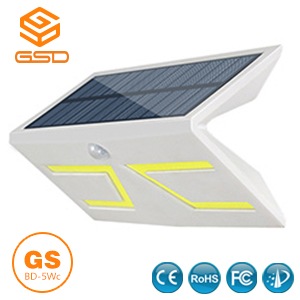 5W Smart LED Solar&lnductive Wall Light White